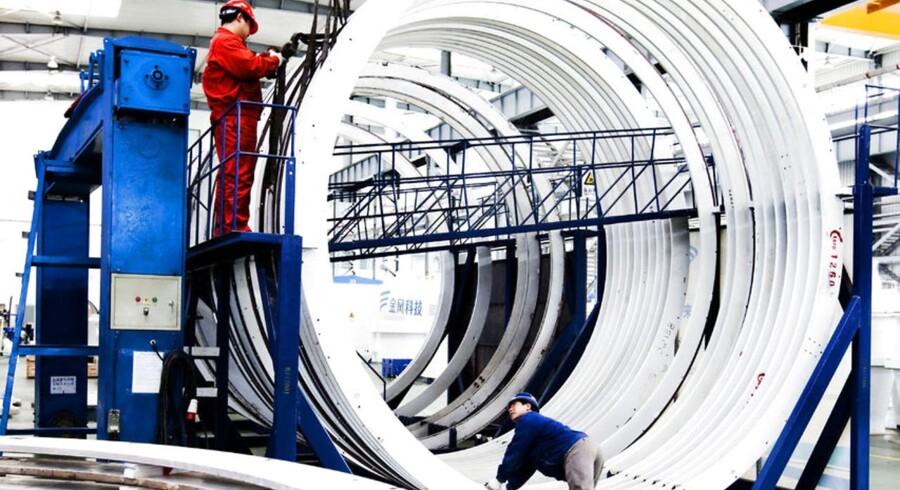 Goldwind - produktions hal hos kinesiske vindmølle producent Goldwind. ARKIVFOTO.