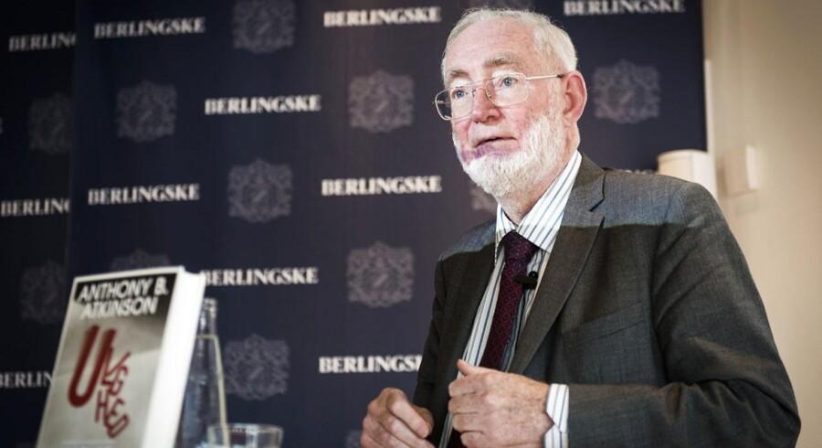 Anthony B. Atkinson, professor i økonomi og forfatter til bogen Ulighed - hvad stiller vi op? gæstede onsdag aften Berlingske Media i København.