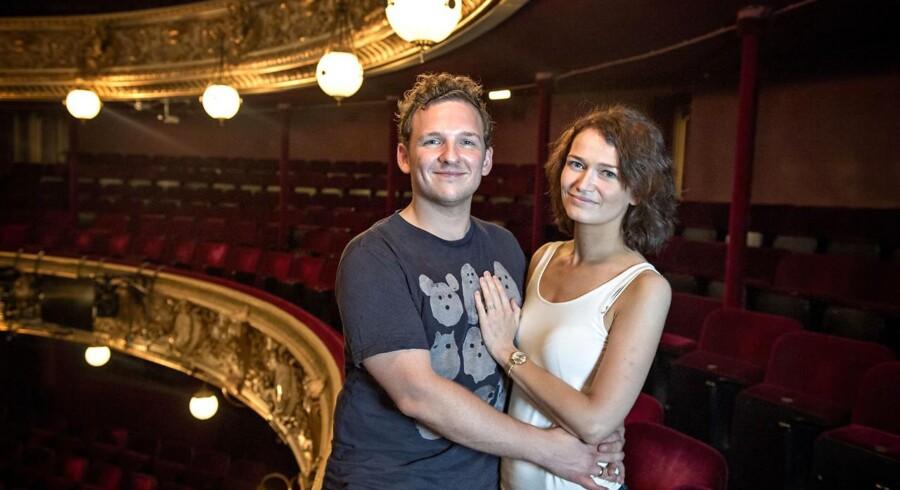 Lars Mølsted og Bjørg Gamst er sammen på scenen, når Fredericia Teaters »Klokkeren fra Notre Dame - The Musical« har premiere i København fredag.