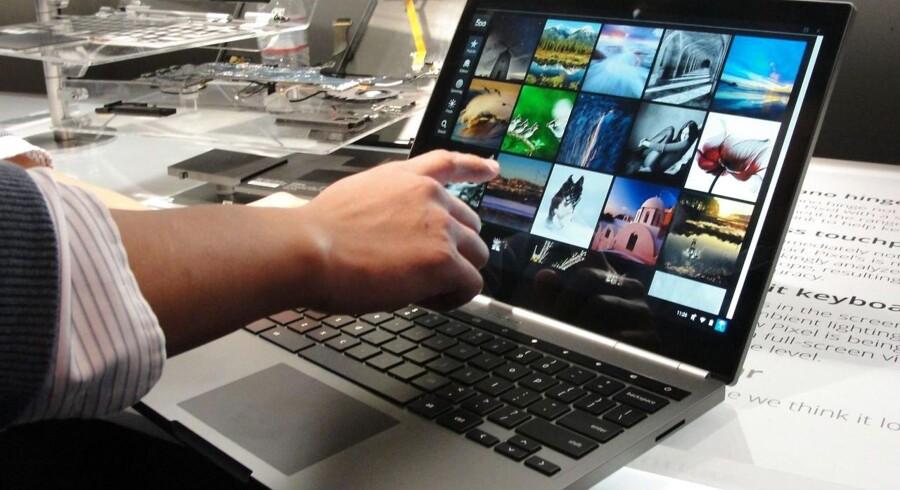 Bærbare PCer med Googles styresystem Chrome, kaldet Chromebooks, har fandtes i mange år, men først nu er der udsigt til, at de kommer bredere ud. Arkivfoto: Glenn Chapman, AFP/Scanpix
