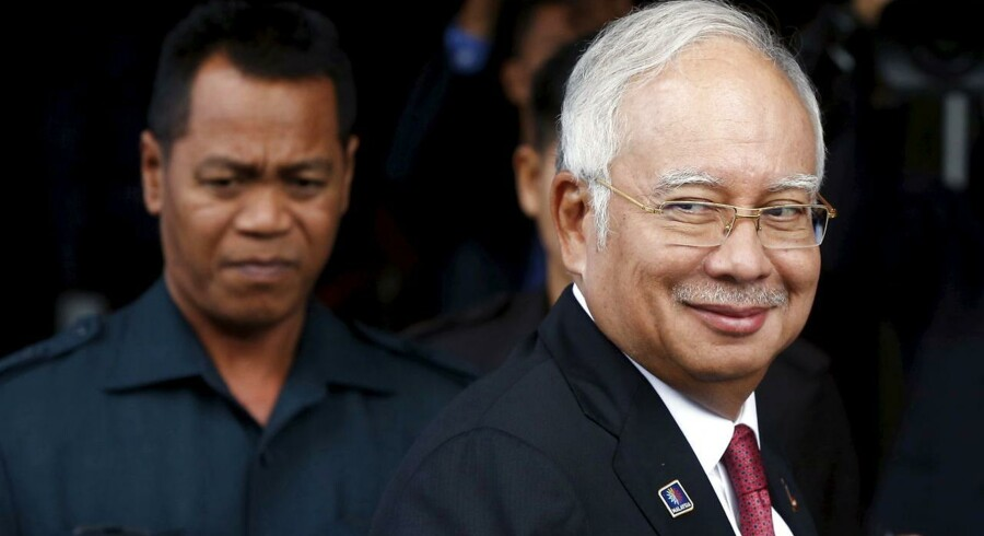Malaysias premierminister Najib Razak er frikendt for korruption. Arkivfoto.