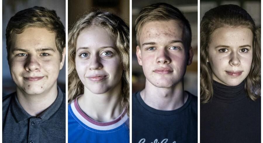 Benjamin Andersen (15), Annabell Nørdam (15), Kristoffer Brejndal (15) og Thea Hermann (16) går i 9. klasse på Lindebjergskolen. Ifølge dem er det interessen for et fag og ikke de efterfølgende jobmuligheder, som lokker unge i retning af en uddannelse.