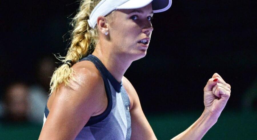 Caroline Wozniacki vinder dagens kamp over Elina Svitolina.