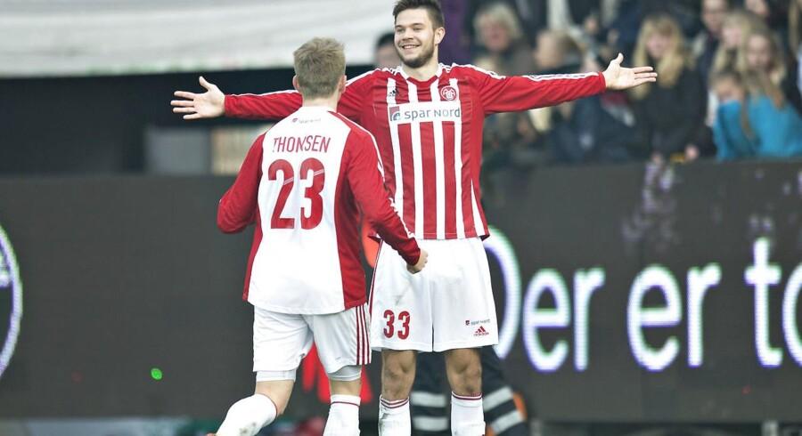 Salget af Lukas Spalvis og Nicolaj Thomsen medførte et overskud af transferaktiviteter på 12,5 mio. kr. mod et underskud på 0,7 mio. kr. i samme periode i 2015.