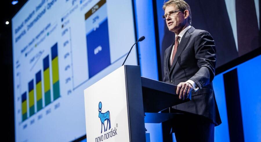Lars Rebien Sørensen ved Novo Nordisk generalforsamling i Bella Center torsdag.