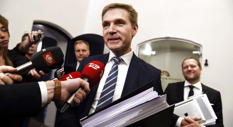 Finanslovsforhandlinger torsdag d. 19. november 2015- - DF's Kristian Thulesen Dahl til finanslovsforhandlinger i Finansministeriet. (Foto: Liselotte Sabroe/Scanpix 2015)