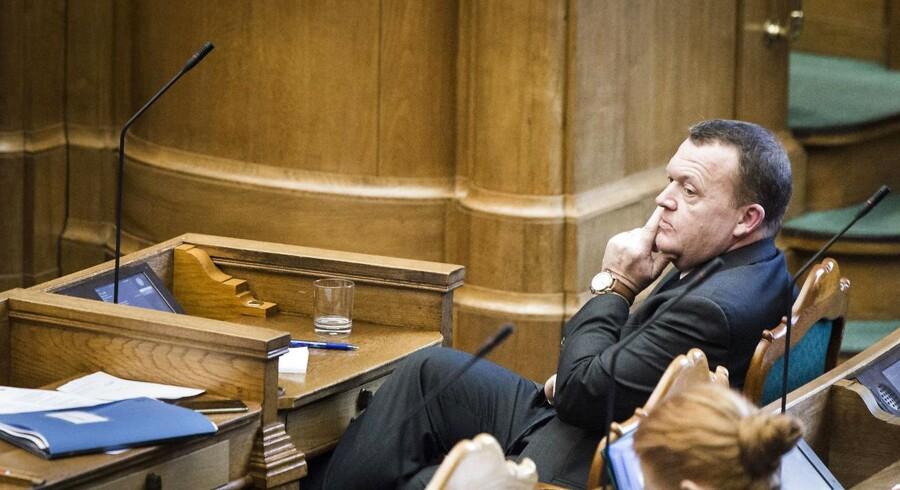 Billede er fra statsministerens spørgetime d. 19.01.2016. Her ses Lars Løkke Rasmussen. (Foto: Simon Skipper/Scanpix 2016)