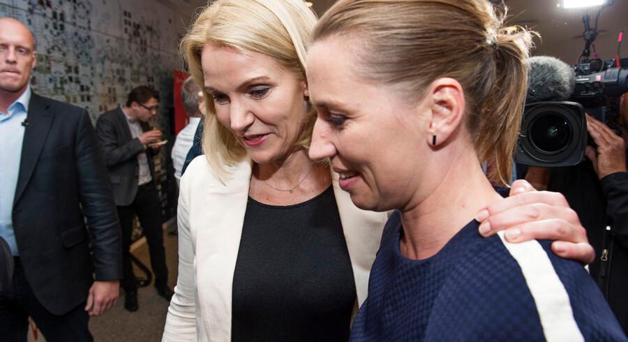 Socialdemokraterne holder møde i hovedbestyrelsen på Hotel Scandic, lørdag den 20. juni 2015. Helle Thorning-Schmidt og Mette Frederiksen