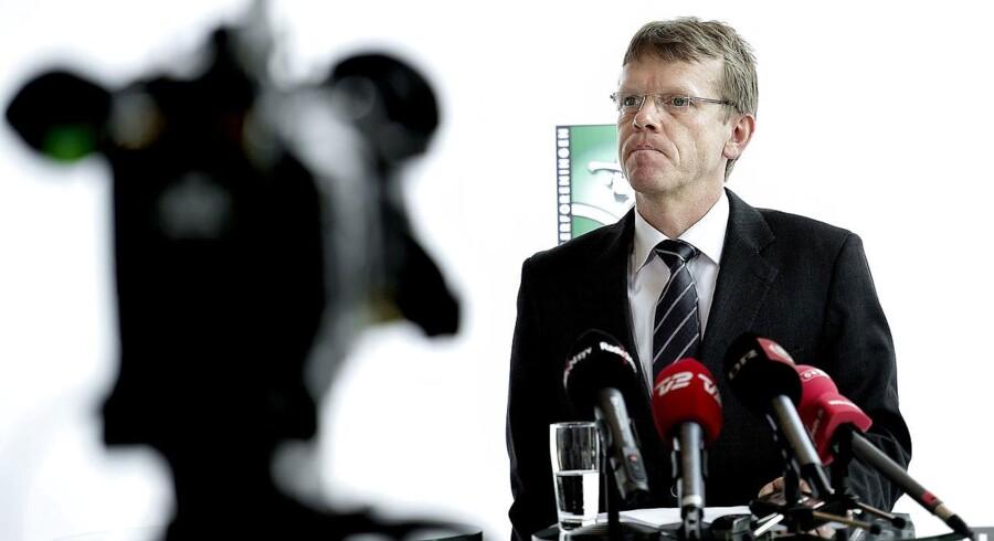 ARKIVFOTO Mads Øland, direktør i Spillerforeningen orienterer om feriepengesagen på et pressemøde tirsdag d. 11 september 2012