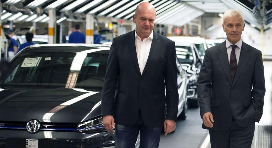 Bilgiganten er angiveligt klar til at købe visse biler med snydesoftware tilbage fra amerikanske kunder. (/ AFP PHOTO / ODD ANDERSEN)