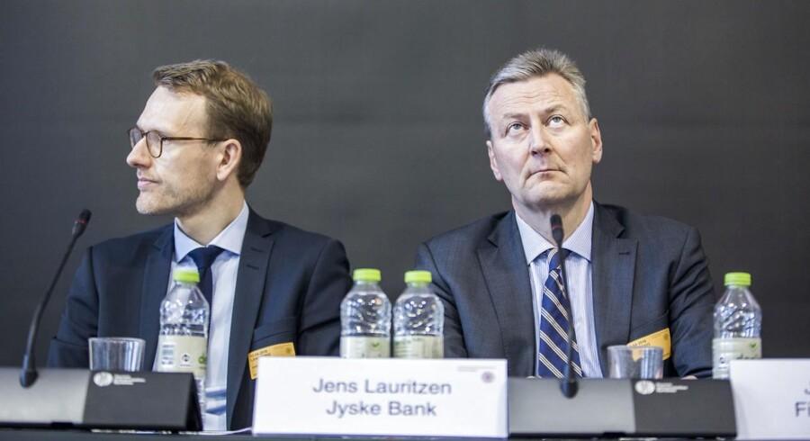 Høring om skattely med fokus på Mossack Fonseca i Panama. På billedet (fra venstre) Chefjurist Flemming Stig Pristed fra Danske Bank og Direktør Jens Lauritzen fra Jyske Bank Private Banking.