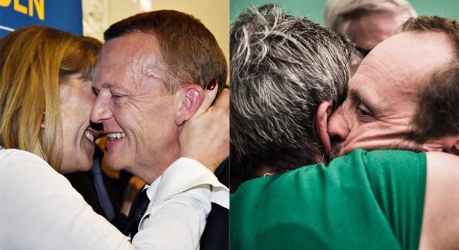 Der var langt fra smil til tårer partierne imellem. Mens nogen poppede champagne og modtog lykønskningskys- og kram, måtte andre mere slukørede modtage trøstekram oven på de endelige valgresultater.Klik videre for et grafisk overblik over F.V. 15's ultimative vindere og tabere.
