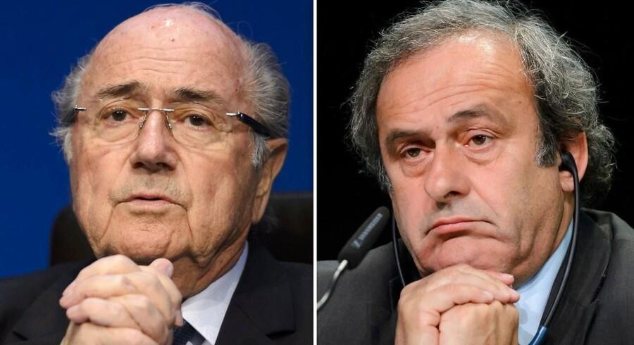 Sepp Blatter og Michel Platini (til højre).
