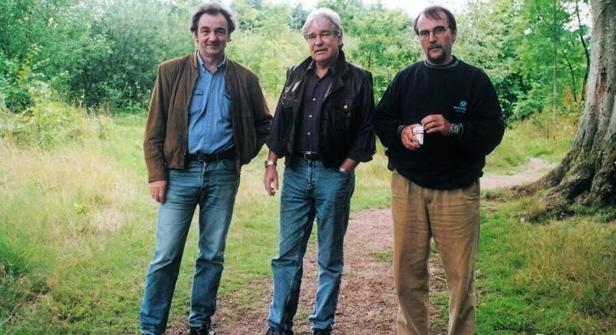 Alfahannerne Lasse Ellegaard, Jan Stage og Lasse Jensen. Foto fra bogen.
