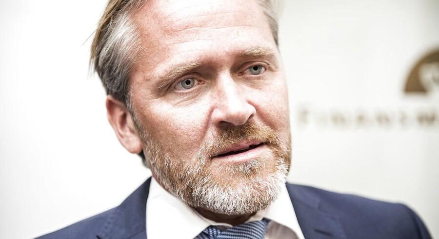 Liberal Alliances partileder Anders Samuelsen har tiltrukket sig stor opmærksomhed med sit budskab om, at han vil vælte regeringen, hvis ikke topskatten lettes med fem procentpoint. (Foto: Ólafur Steinar Gestsson/Scanpix 2016)