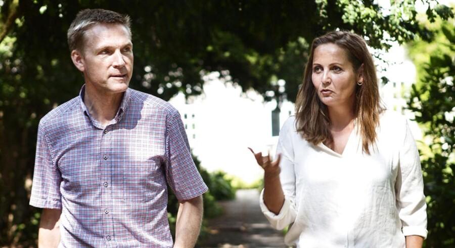 SFs Pia Olsen Dyhr og Dansk Folkepartis Kristian Thulesen Dahl har gennem flere fælles optrædener fået etableret et usædvanligt parløb i dansk politik. Arkivfoto: Simon Læssøe