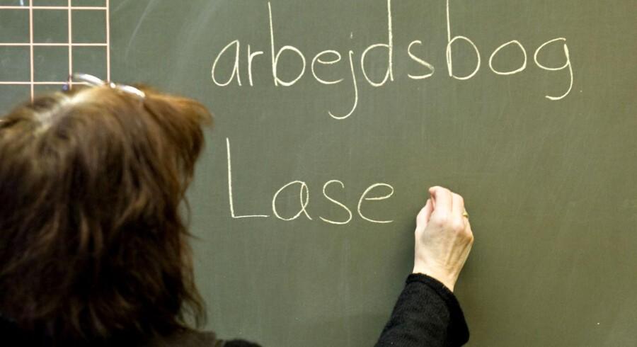 ARKIVFOTO 2007 af læsning i folkeskolen.
