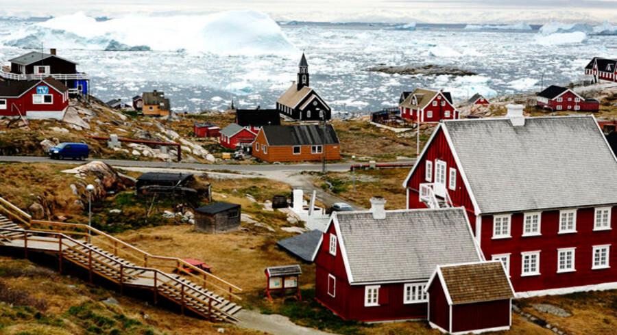 Uanset hvor i Grønland man fremover er, vil der være mobil bredbåndsdækning. Her et vue ud over Ilulissat. Foto: Michael Bothager, Scanpix