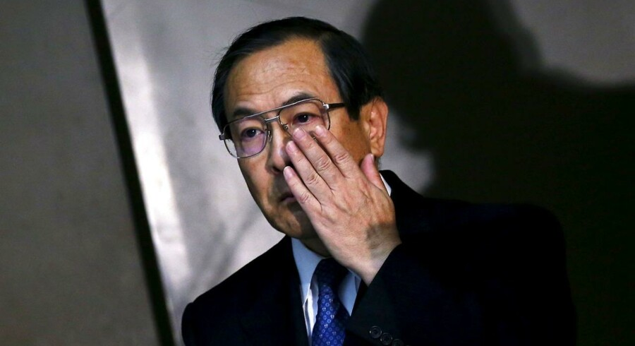 Toshibas administrerende direktør, Masashi Muromachi, var til stede ved virksomhedens pressekonference den 4. februar, hvor Toshiba præsenterede sine forventninger om resultaterne for 2015-2016.