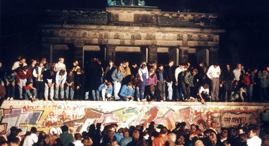 Arkivfoto nov. 1989. Dagens toppolitikere er et produkt af Murens fald
