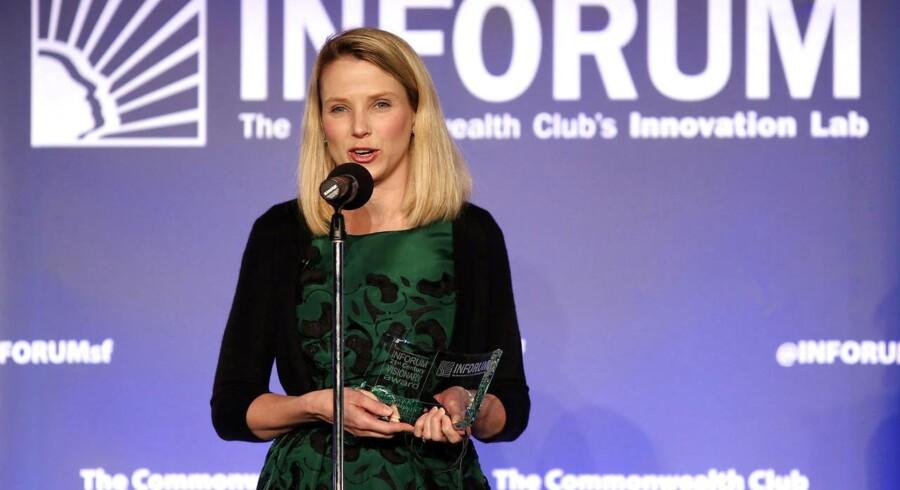 Yahoos topchef siden 2012, Marissa Mayer, kæmper for at få vendt butikken i konkurrence med sin tidligere arbejdsplads, Google. Arkivfoto: Robert Galbraith, Reuters/Scanpix
