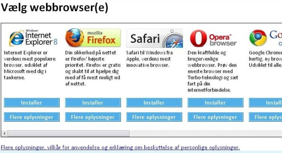 Windows-brugere vil kunne nikke genkendende til dette skærmbillede, som de er blevet præsenteret for på et eller andet tidspunkt for at give dem valget at få et andet internetprogram end det, der automatisk fulgte med Windows fra Microsofts værksted. Men det slutter nu.