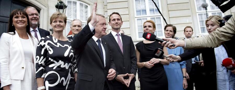 Lars Løkke præsenterer sin nye regering på Amalieborg