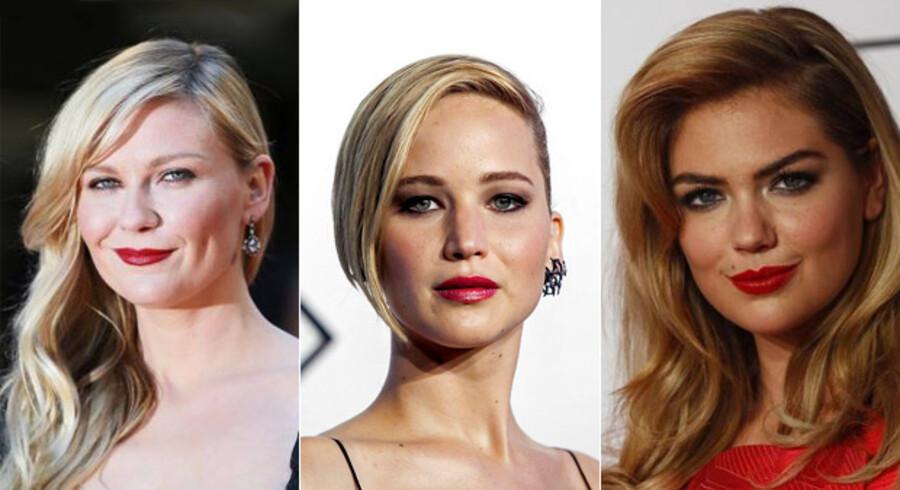 Kristen Dunst, Jennifer Lawrence og Kate Upton er blandt de skuespillerinder der i weekenden har været ofre for et hackerangreb, hvor der er blevet stjålet og offentliggjort private nøgenbilleder.
