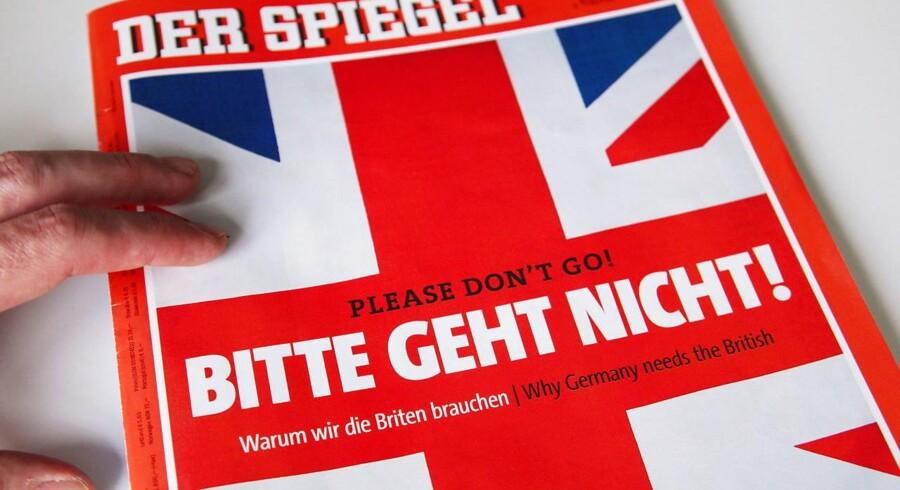 Tysklands største nyhedsmagasin Der Spiegel dedikerede sit seneste nummer til de britiske vælgere med overskriften »Please don't go!«