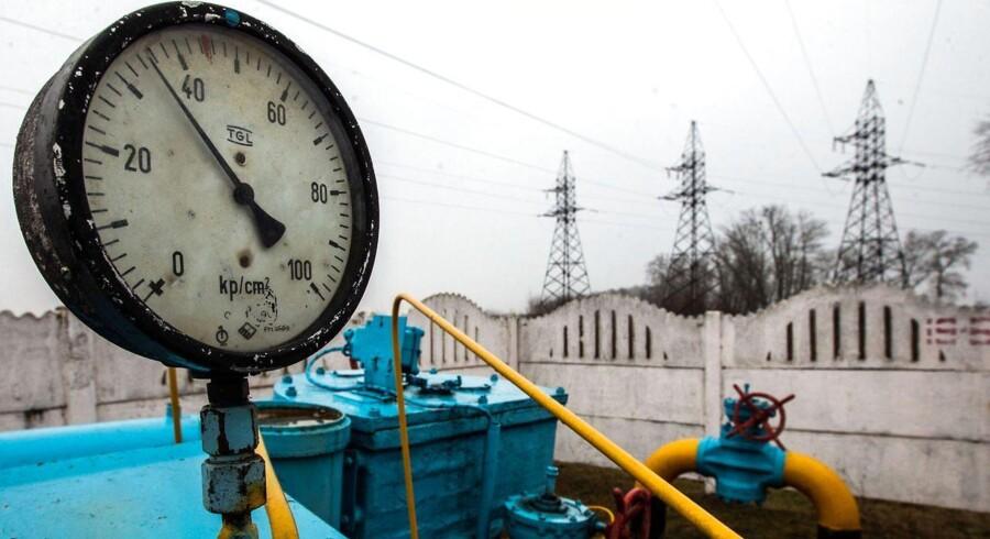 ARKIVFOTO af en gasstation nær Kiev i Ukraine.