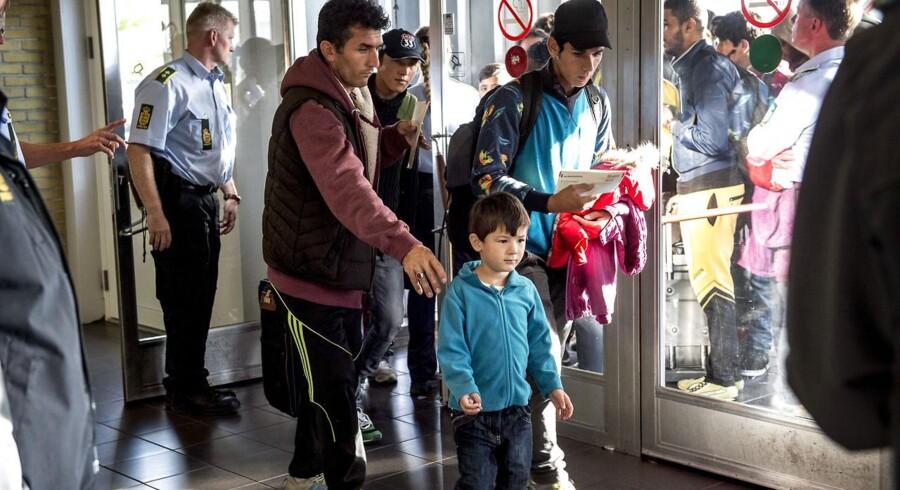 I de seneste timer er flygtninge igen ankommet til Rødby fra Tyskland.