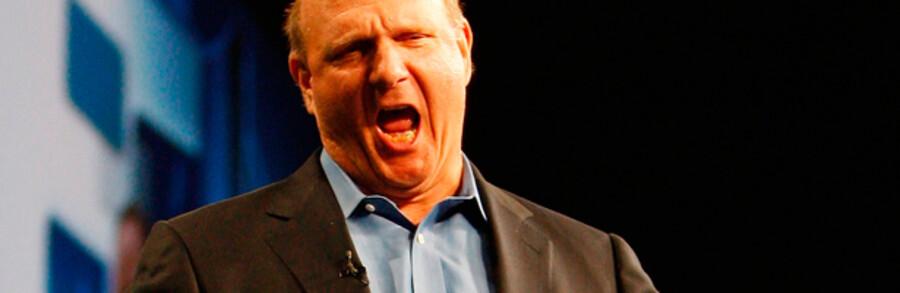 CEO Steve Ballmer rullede også kropssproget helt ud, da Microsoft præsenterede den største pakke af nye produkter nogensinde på partnerkonferencen WPC i New Orleans.