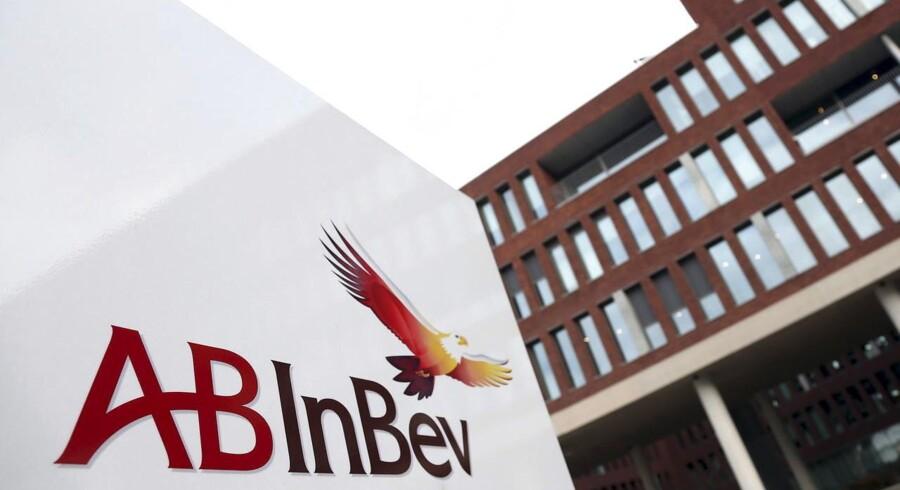 Arkivfoto: AB Inbev logo.