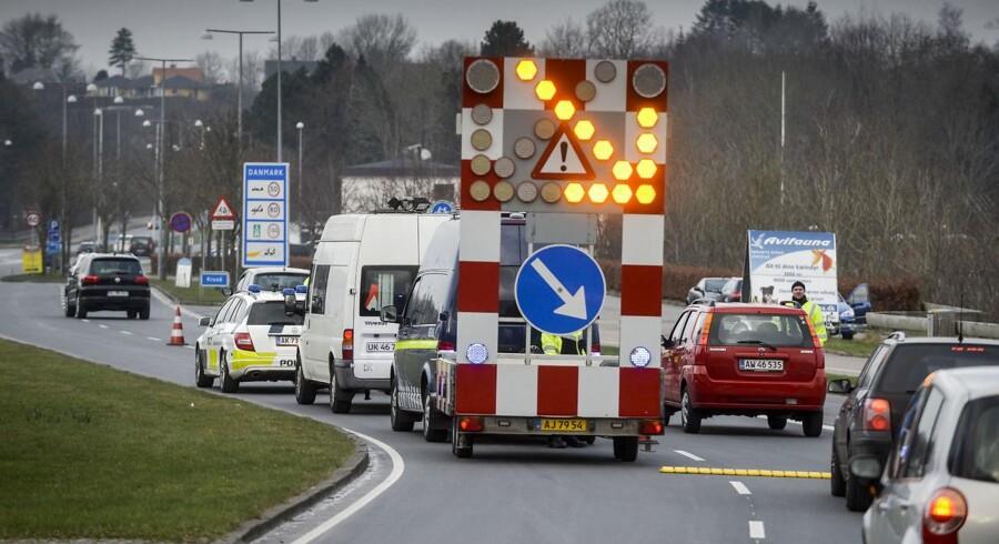 Grænsekontrollen ved den dansk-tyske grænse er i gang.