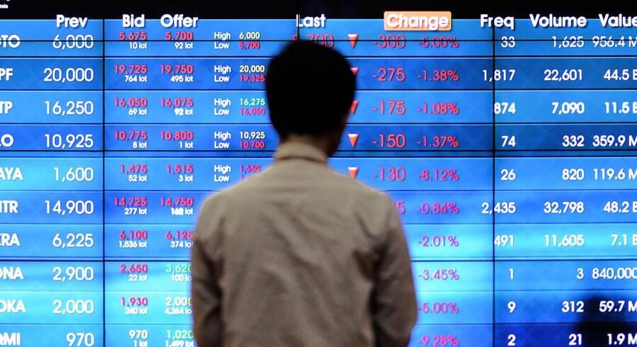 De fjernøstlige aktiemarkeder er massivt negative onsdag morgen. (Foto: Bay Ismoyo)