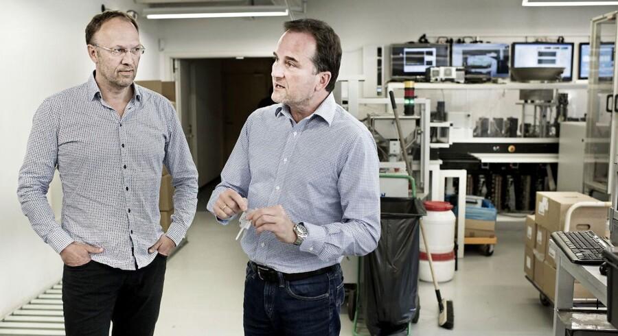 Vicebestyrelsesformand Martin Glensbjerg og CEO Michael Eising fra Chemometec.
