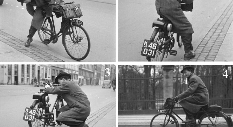 »Knallerten den store Sukces - der kommer Tusinder af dem,« skrev Berlingske Tidende søndag den 21. januar 1951, og bragte denne montage, der viser, at der kan være problemer ved de nymodens køretøjer.»Saadan kan det gaa, naar man kører Knallert - øverst begynder den at gøre Vrøvl, paa de næste Billeder forsøger Cyklisten at faa den til at gaa - og til sidst træder han hjem, heldigvis har man da Pedalerne. Knallerterne er i øvrigt driftsikre nok, men det gælder her som altid, at det først er Øvelsen, der gør Mester, og det heller ikke sikkert, at ´ det er Knallertens skyld«