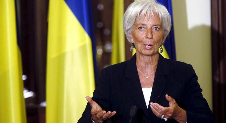 IMF's topchef, Christine Lagarde pointerede det nødvendige i en koordineret pengepolitik, og pegede specifikt på den fortsat lempelige pengepolitik i de udviklede økonomier.