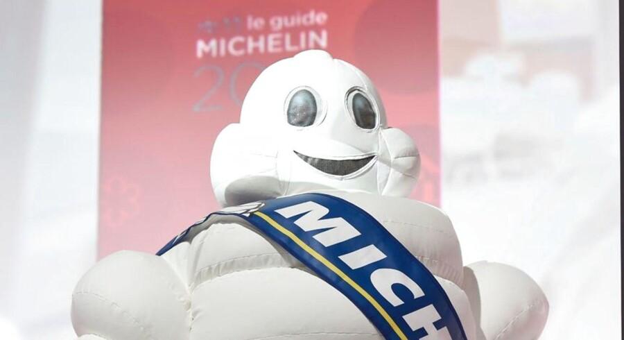 Arkivfoto af Michelin maskot. (Foto: LIONEL BONAVENTURE/Scanpix 2016)