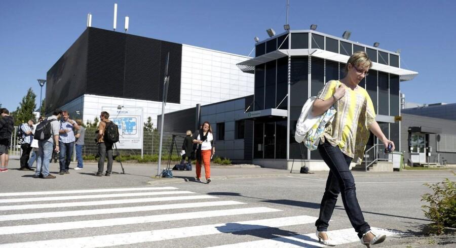 Nokias mobiludviklingscenter i Salo i det sydvestlige Finland bliver nu helt lukket som led i nyeste fyringsrunde i Microsoft, som i dag ejer det. Arkivfoto: Antti Aimo-Koivisto, Lehtikuva/Reuters/Scanpix