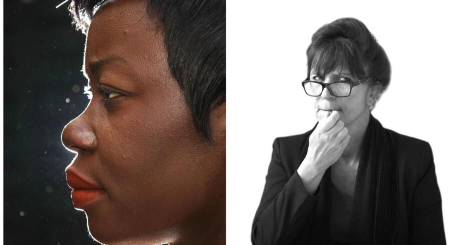 »Åbenbaringen indtraf dagen efter, at Naser Khader på sin Facebook-væg havde stillet fænomenet Mary Consolata Namagambe (På billedet til venstre, red.) en række retoriske spørgsmål, herunder om hun overhovedet var neger. Man kan sige, hvad man vil om Khader, men han er altså en negersiger,« skriver Susanne Staun i sin sprogklumme. Foto: Ólafur Steinar Gestsson og Ida Marie Odgaard.