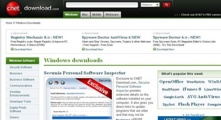 Download.com har tirsdag formiddag udvalgt det danske sikkerhedssoftwareprogram Secunia PSI til en fremtrædende placering.