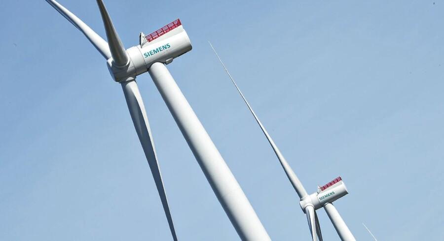 Tyske Siemens vil efter sigende betale omkring 1 mia. dollar i kontanter til den spanske vindmølleproducent Gamesa i forbindelse med aftalen om at kombinere de to konkurrenters vindmølleaktiviteter. (Foto: Henning Bagger/Scanpix 2016)