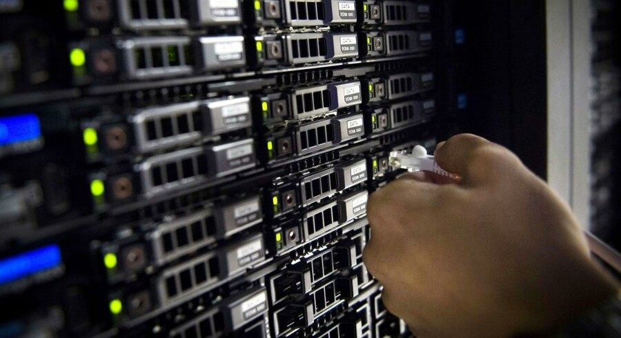 Hvor der er tilbagegang i hardwaresalget, er der til gengæld igen fremgang på de to områder, hvor Danmark kan noget selv, nemlig tjenesteydelser/IT-service og softwaresalg og -udvikling. Arkivfoto: Martin Bureau/AFP/Scanpix