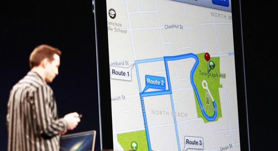 Scott Forstall, ansvarlig for Apples softwareudvikling, fremviste i juni Apples navigation i det nye styresystem iOS6. Han blev fyret efter skandalen med de fejlbefængte Apple Maps. Arkivfoto: Stephen Lam, Reuters/Scanpix