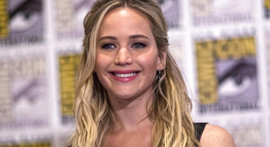Jennifer Lawrence, som ses på billedet, er årets bedst betalte skuespillerinde.