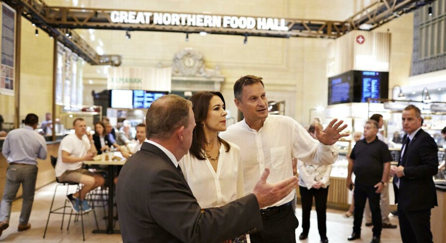 Kronprinsesse Mary og Statsminister Lars Løkke Rasmussen besøger kokken Claus Meyer i hans nye projekt The Great Northern Foodhall på Grand Central Station i New York.