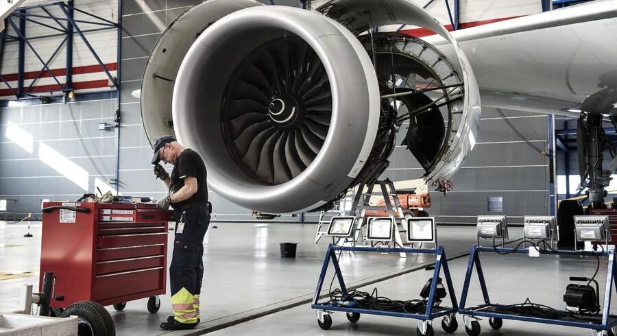 Det er medgang på salget af jet-passagerfly, som har dæmpet et finansielt lufthul på 2,1 mia. dollar efter skat til regnskabsmæssige omkostninger.. (Foto: Niels Ahlmann Olesen/Scanpix 2015)