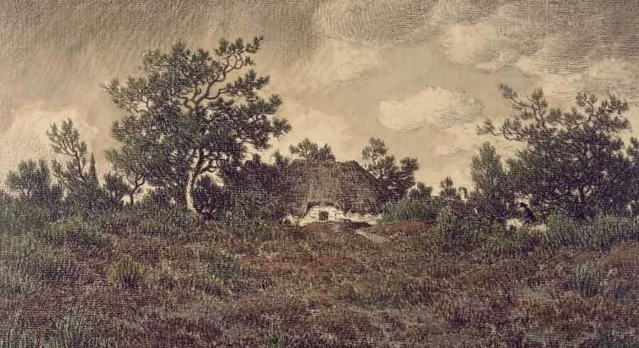 Théodore Rousseau, Landscape with Cottage, 1865.