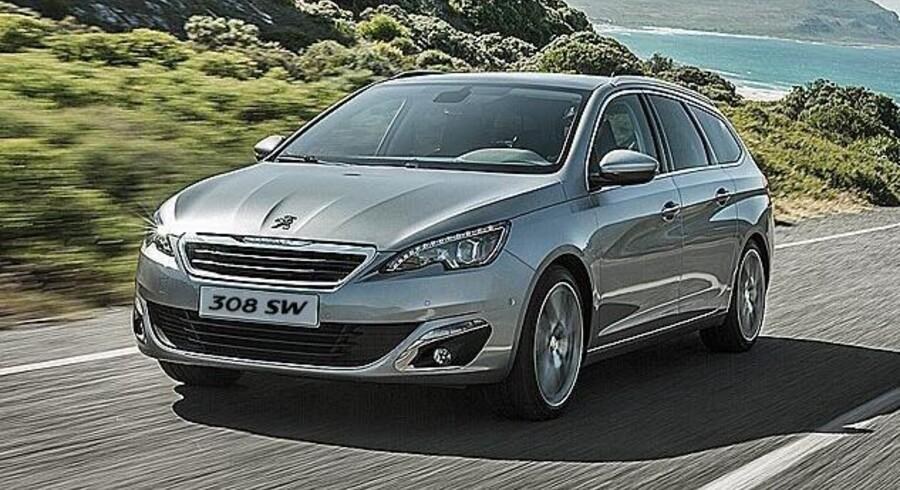 Den første bil, der kan leases på en ny måde, er en Peugeot 308 SW med 120 hestekræfter og dieselmotor. Men Peugeot har flere modeller på vej. PR-foto